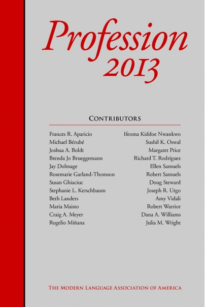 Profession 2013 Cover