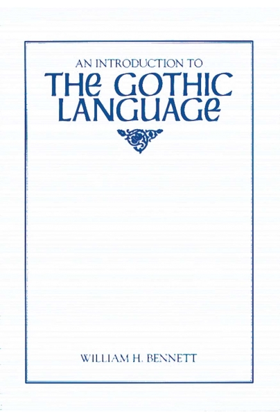 An Introduction to the Gothic Language Cover
