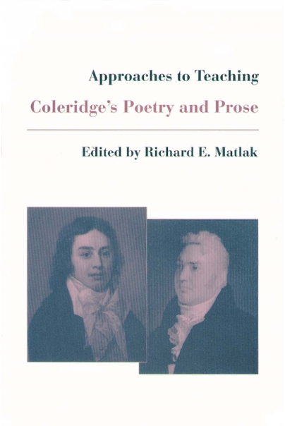 Approaches to Teaching Coleridge's Poetry and Prose Cover