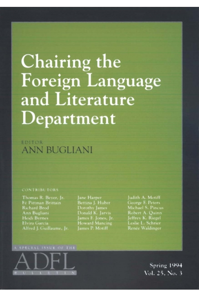 Chairing the Foreign Language and Literature Department, Part 1 Cover