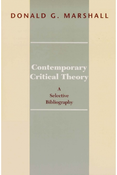 Contemporary Critical Theory Cover