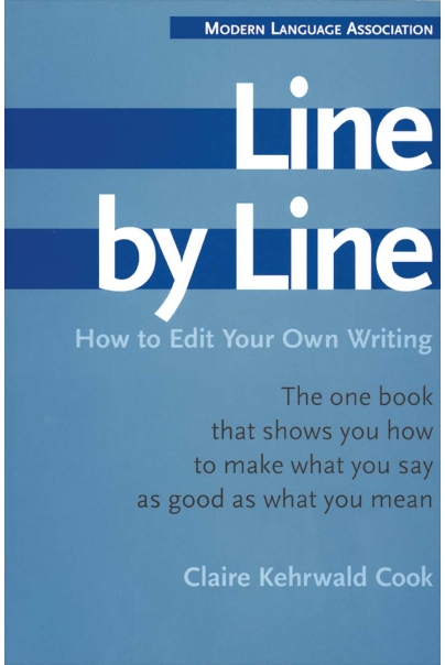 Line by Line: How to Edit Your Own Writing Cover