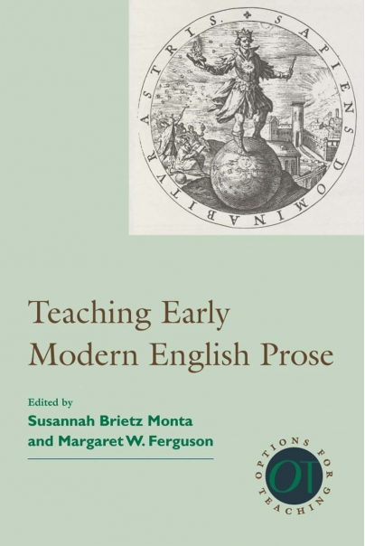 Teaching Early Modern English Prose Cover