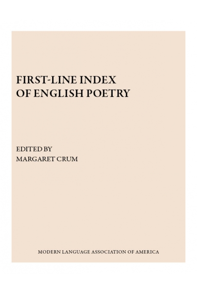 First-Line Index of English Poetry | Modern Language Association