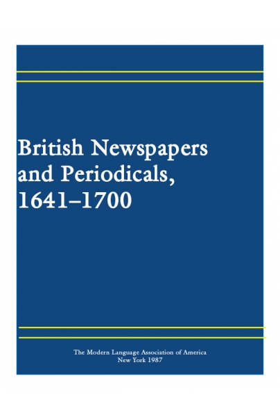 British Newspapers and Periodicals, 1641-1700 Cover