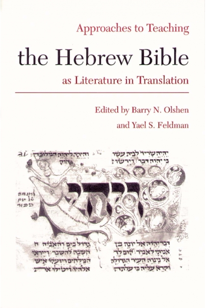 Approaches to Teaching the Hebrew Bible as Literature in Translation Cover