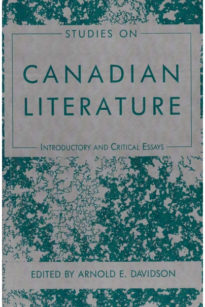 Studies on Canadian Literature Cover