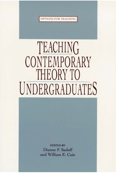 Teaching Contemporary Theory to Undergraduates Cover