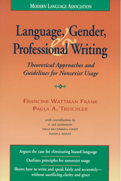 Language, Gender, and Professional Writing Cover