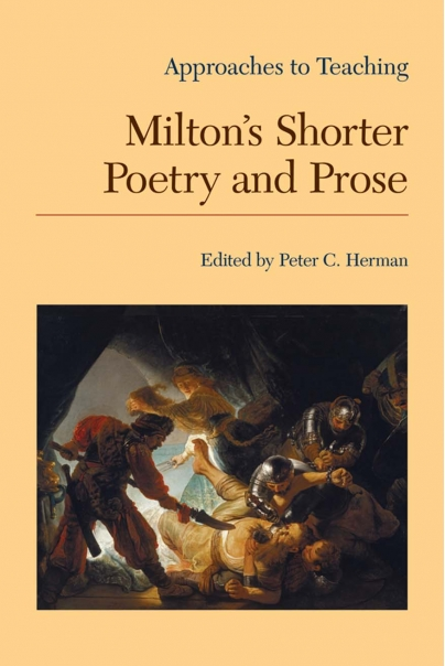 Approaches to Teaching Milton's Shorter Poetry and Prose Cover
