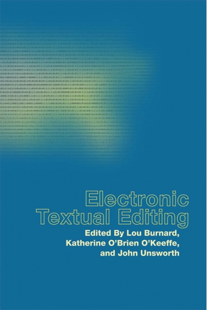 Electronic Textual Editing Cover