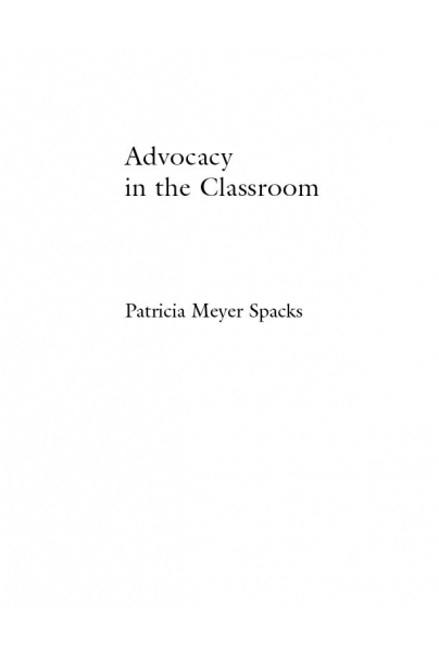 Advocacy in the Classroom Cover
