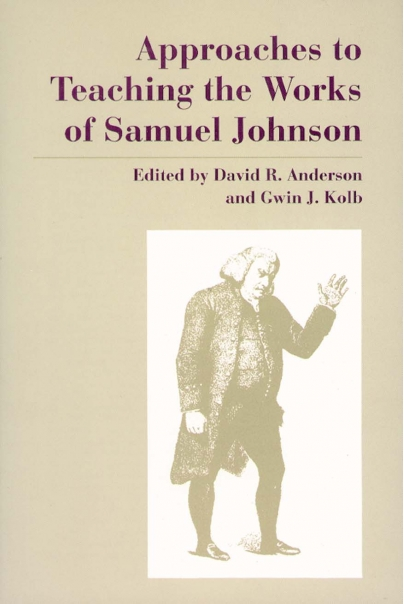 Approaches to Teaching the Works of Samuel Johnson Cover