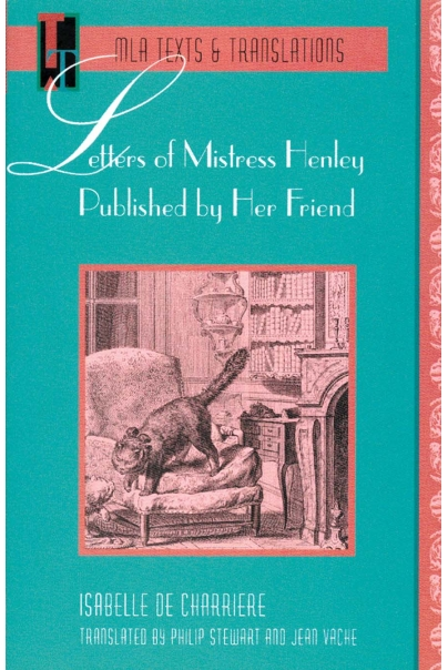Letters of Mistress Henley Published by Her Friend Cover