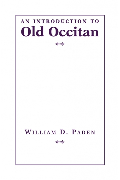 An Introduction to Old Occitan Cover